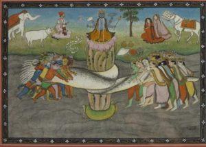 Samudra Manthan- Churning of the Ocean floor for Milk